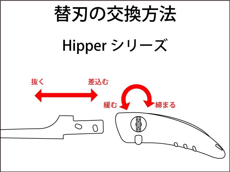 Hipperシリーズ 替刃の交換方法